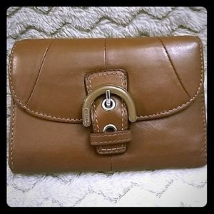 Authentic Brown Leather Coach SOHO Wallet